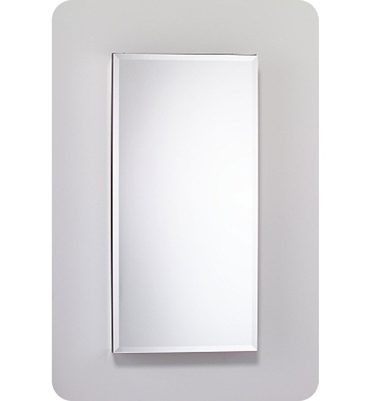 "Robern MC2040D4FPRE4 M Series 19 1/4"" Wide x 4"" Deep Customizable Cabinet With Cabinet Hinge: Right And Style and Color: Flat Cabinet Top with Plain Mirrored Door And Electrical / Lighting / Audio Option: Electrical outlet with Interior Light, Night Light & Defogger"