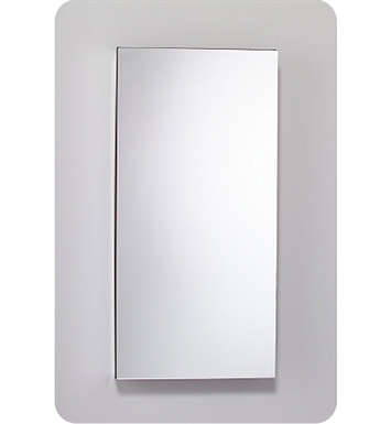 "Robern MC2040D6FPLE2 M Series 19 1/4"" Wide x 6"" Deep Customizable Cabinet With Cabinet Hinge: Left And Style and Color: Flat Cabinet Top with Plain Mirrored Door And Electrical / Lighting / Audio Option: Electrical outlet with Interior Light"