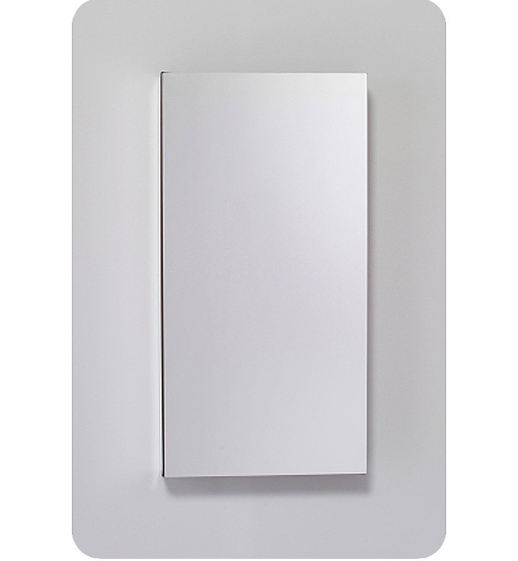 "Robern MC1630D6FPLE2 M Series 15 1/4"" Wide x 6"" Deep Customizable Cabinet With Cabinet Hinge: Left And Style and Color: Flat Cabinet Top with Plain Mirrored Door And Electrical / Lighting / Audio Option: Electrical outlet with Interior Light"