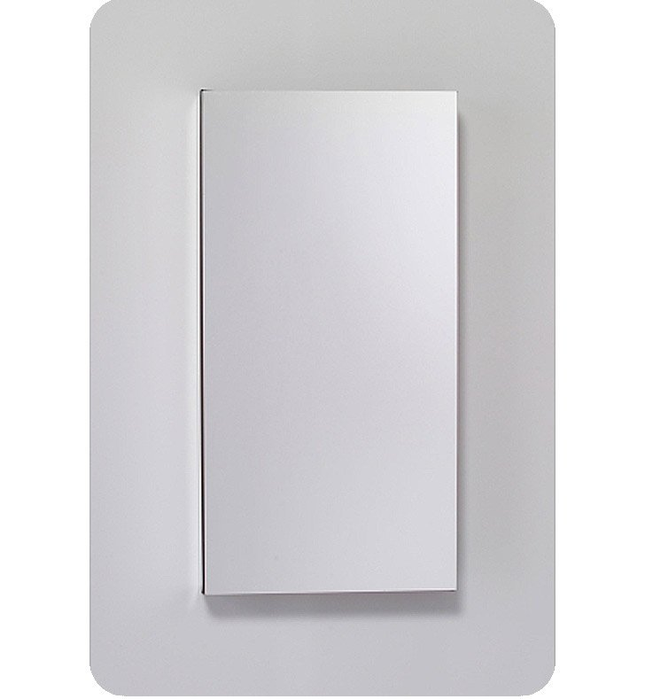 "Robern MC1630D6FBLE2 M Series 15 1/4"" Wide x 6"" Deep Customizable Cabinet With Cabinet Hinge: Left And Style and Color: Flat Cabinet Top with Beveled Mirrored Door And Electrical / Lighting / Audio Option: Electrical outlet with Interior Light"