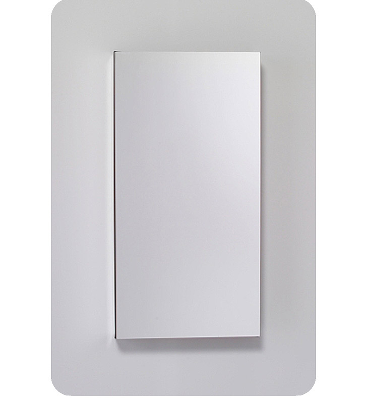 "Robern MC1630D8FBRE2 M Series 15 1/4"" Wide x 8"" Deep Customizable Cabinet With Cabinet Hinge: Right And Style and Color: Flat Cabinet Top with Beveled Mirrored Door And Electrical / Lighting / Audio Option: Electrical outlet with Interior Light"