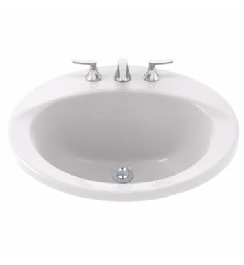 "TOTO LT512 Ultimate 19"" Vitreous China Oval Self-Rimming Lavatory Sink"