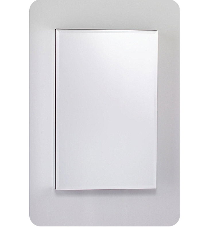 "Robern MC2030D6FBRE2 M Series MC 19 1/4"" Wide x 6"" Deep Customizable Cabinet With Cabinet Hinge: Right And Style and Color: Flat Cabinet Top with Beveled Mirrored Door And Electrical / Lighting / Audio Option: Electrical outlet with Interior Light"