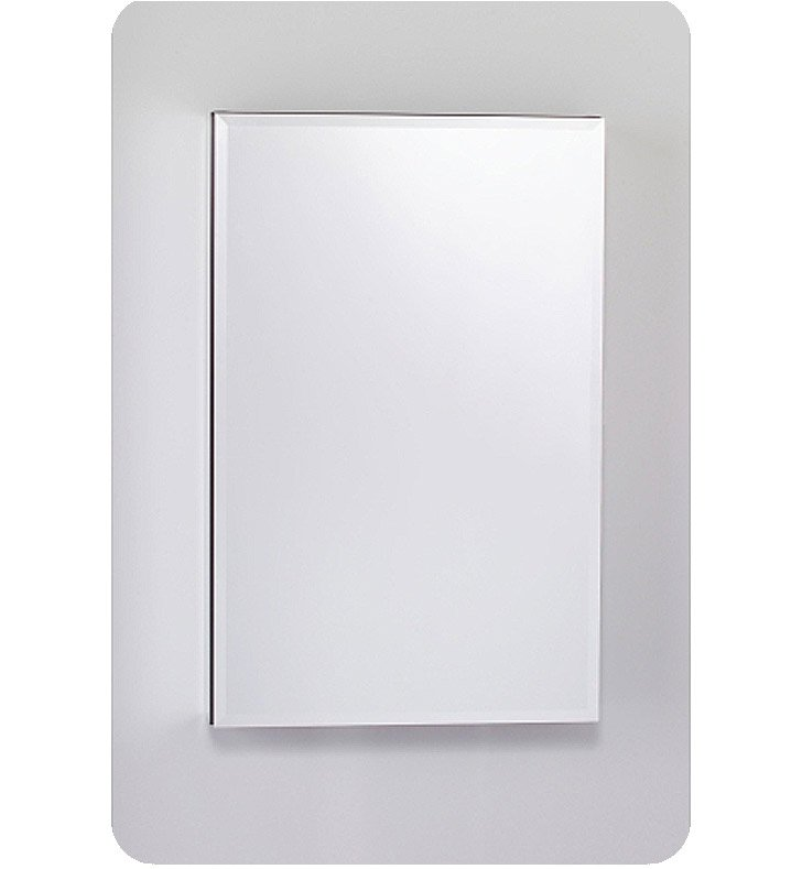 "Robern MC2030D8FPLE4 M Series 19 1/4"" Wide x 8"" Deep Customizable Cabinet With Cabinet Hinge: Left And Style and Color: Flat Cabinet Top with Plain Mirrored Door And Electrical / Lighting / Audio Option: Electrical outlet with Interior Light, Night Light & Defogger"