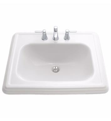 "TOTO LT531.4#03 Promenade 22 1/2"" Vitreous China Rectangular Self Rimming Lavatory Sink With Finish: Bone And Faucet Holes: 4-Inch Centers"