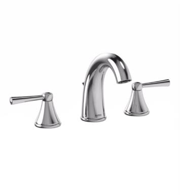 "TOTO TL210DD Silas 7 5/8"" 1.5 GPM Double Handle Widespread Bathroom Sink Faucet with Pop-Up Drain"