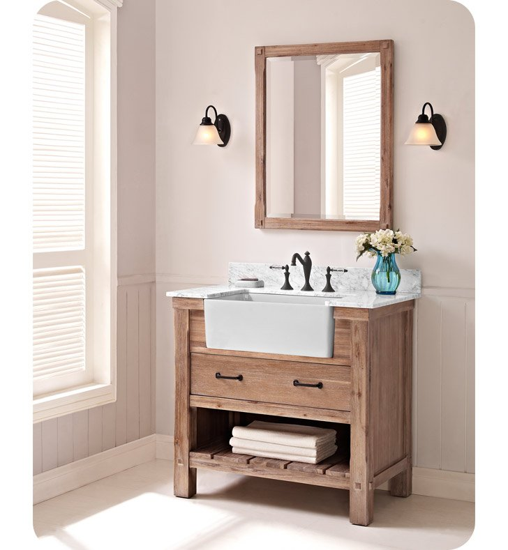 "Fairmont Designs 1507-FV36 Napa 36"" Farmhouse Vanity in Sonoma Sand"
