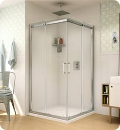 Fleurco STC32 Banyo Shuttle Square 32 Semi Frameless Corner Entry Sliding Doors