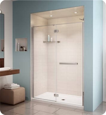 Fleurco PJ57 Platinum Pura in Line 60 Door and Fixed Panel with Glass to Glass Hinges