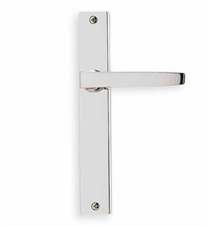 Omnia 17036 Customizable Narrow Plate Latchset with Lever Handle