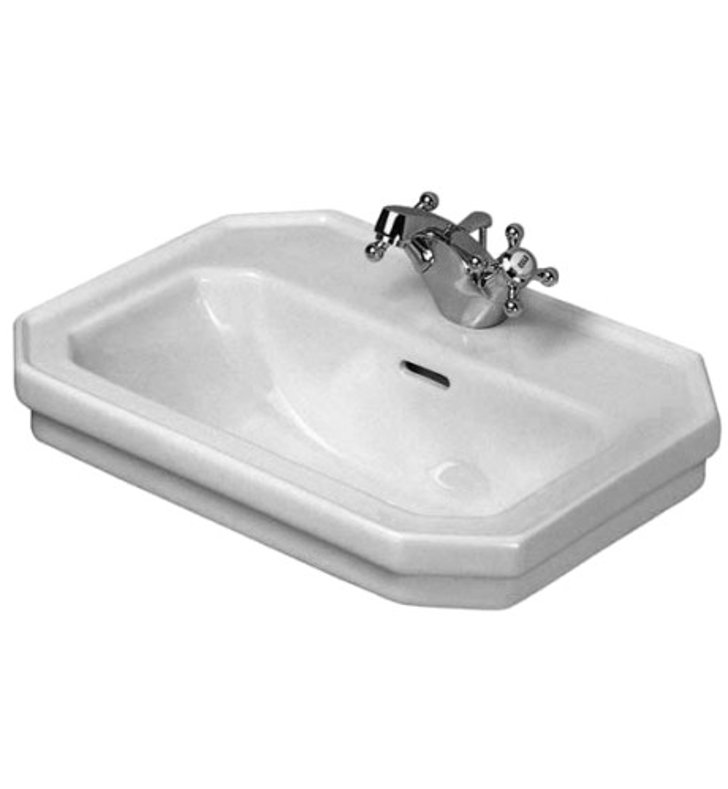 Duravit 04387000 1930 Series Washbasin with Overflow and Tap Platform