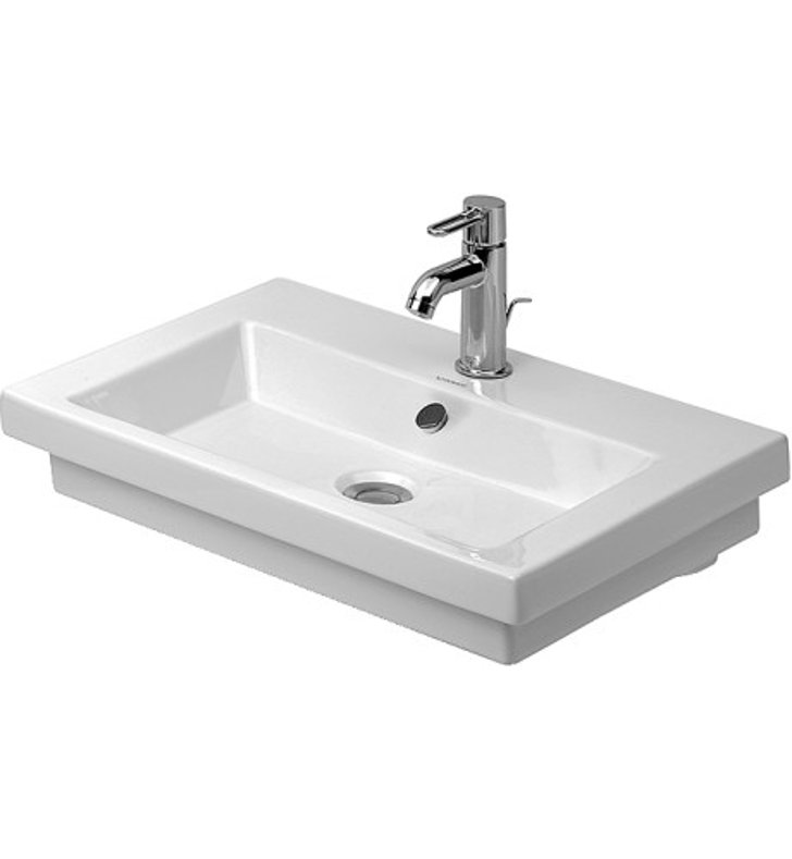 Duravit 04916000 2nd Floor Drop In - Self Rimming Porcelain Bathroom Sink