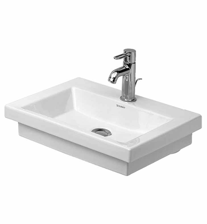 Duravit 07905000001 2nd Floor Wall-Mount Porcelain Bathroom Sink