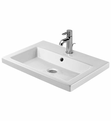 Duravit 03476000 2nd Floor Drop In Porcelain Bathroom Sink