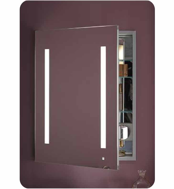 Robern Ac2430d4p1law Aio 24 Wide Single Door Medicine Cabinet With