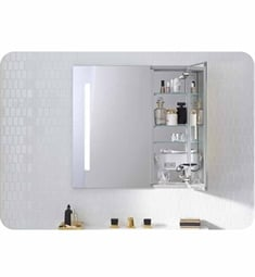 "Robern AC3030D4P2L AiO 30"" Wide Dual Door Medicine Cabinet with Integrated Lights, Built-in Electrical Outlets and Magnet Cosmetic Mirror"