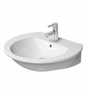 "Duravit 26216000 Darling New Wall Mount W 23 5/8"" x D 20 5/8""  Porcelain Bathroom Sink"