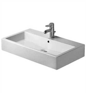 Duravit 04547000 Vero 27 1/2 inch Wall Mounted Porcelain Bathroom Sink