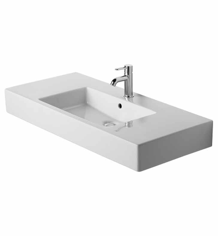 Duravit 03291000 Vero 41 3/8 inch Vessel Porcelain Bathroom Sink
