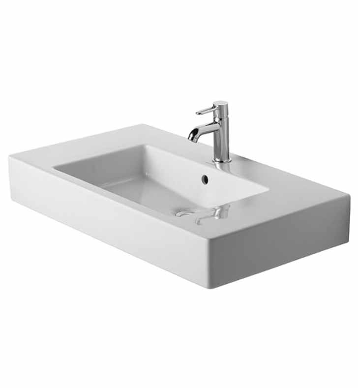 Duravit 03298500 Vero 33 1/2 inch Vessel Porcelain Bathroom Sink