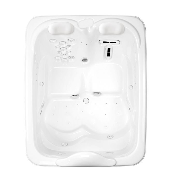 Aquatic AI7MIL7257-WH Millennium Two-Person Air-Whirlpool Bathtub With Finish: White