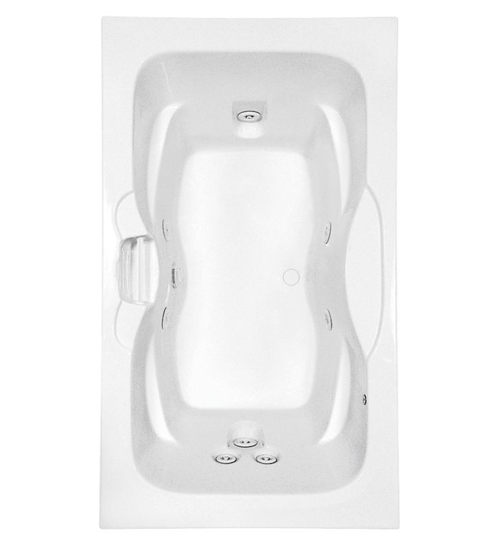 Aquatic AI7242R-BI Estate Clearwater Two-Person Whirlpool Bathtub With Finish: Biscuit