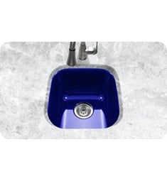 Houzer PCB-1750-NB Undermount Square Bar/Prep Kitchen Sink in Navy Blue Finish from the Porcela Series
