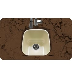 Houzer PCB-1750-BQ Undermount Square Bar/Prep Kitchen Sink in Biscuit Finish from the Porcela Series