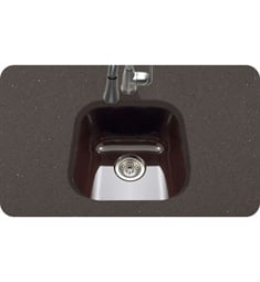 Houzer PCB-1750-ES Undermount Square Bar/Prep Kitchen Sink in Espresso Finish from the Porcela Series