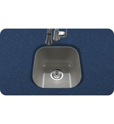 Houzer PCB-1750-SL Undermount Square Bar/Prep Kitchen Sink in Slate Finish from the Porcela Series