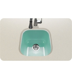 Houzer PCB-1750-MT Undermount Square Bar/Prep Kitchen Sink in Mint Finish from the Porcela Series