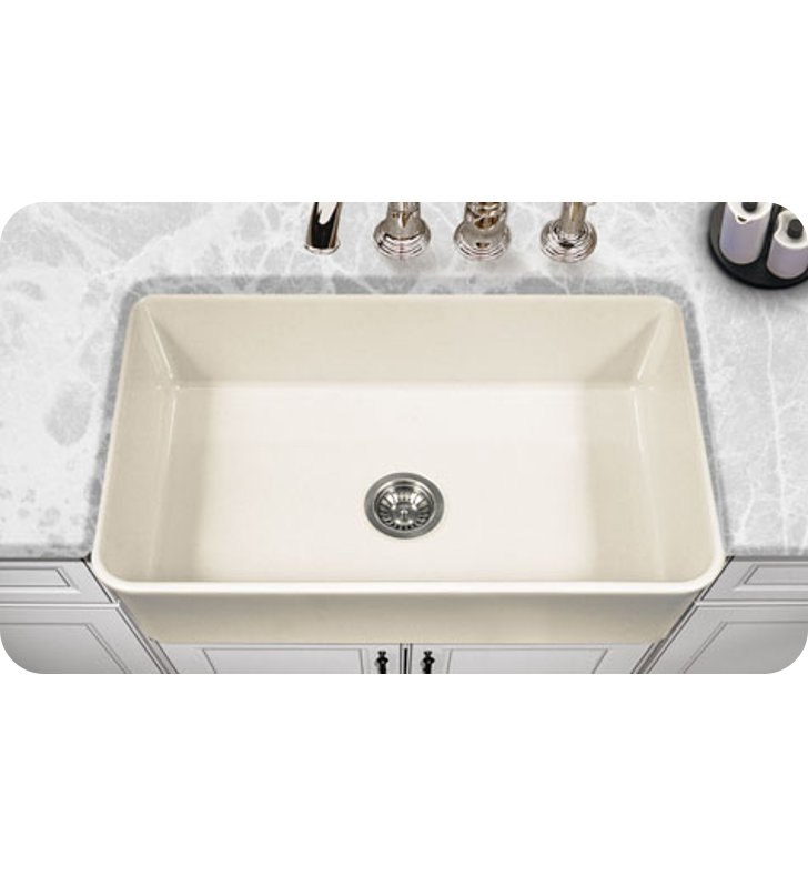 Houzer Ptg 4300 Bq Apron Front 33 Fireclay Kitchen Sink In Biscuit Finish From The Platus Series