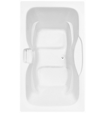 Aquatic AI1AIR7242TO-WH Estate Serenity Two-Person Soaker Bathtub With Tub Color: White