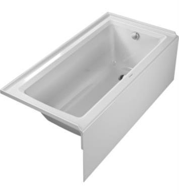 "Duravit 700355000000090 Architec 60"" Rectangular Alcove Acrylic Soaking Bathtub with Right Drain in White"