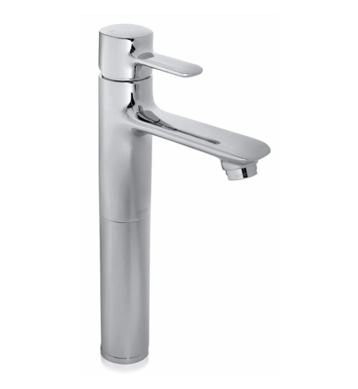 "TOTO TL416SDH Aquia 12"" Single Handle Vessel Bathroom Sink Faucet with Metal Pop-Up Drain"