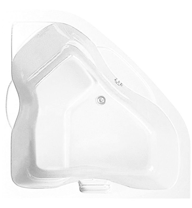 Aquatic AI6AIR6060TO-BI Estate Serenity Two-Person Corner Soaker Bathtub With Finish: Biscuit