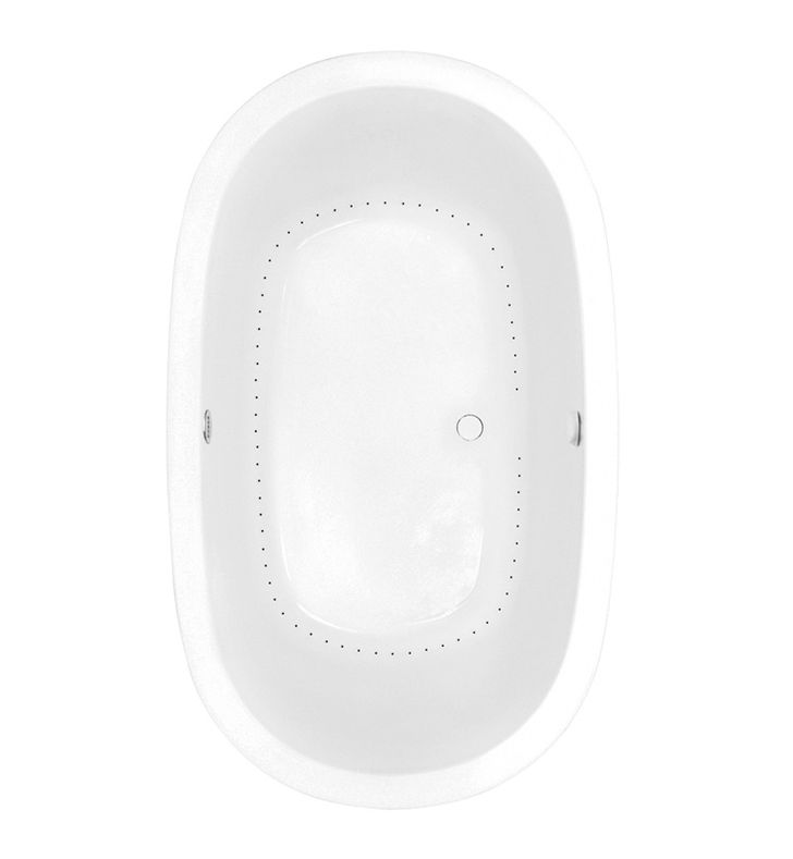 Aquatic AI9AIR7444-WH Estate Serenity Two-Person Oval Air Bathtub With Finish: White