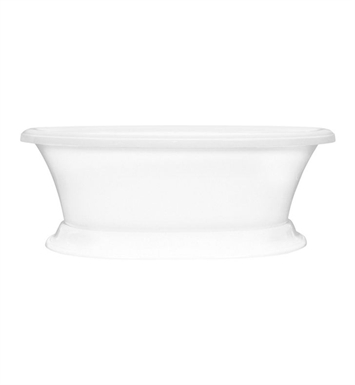 Aquatic AI11AIR7240PTO-WH Estate Serenity Two-Person Pedestal Oval Soaker Bathtub With Tub Color: White