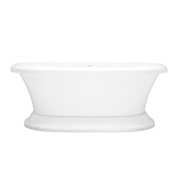 Aquatic AI13AIR6638FTO-BI Estate Serenity Two-Person Pedestal Oval Soaker Bathtub With Tub Color: Biscuit