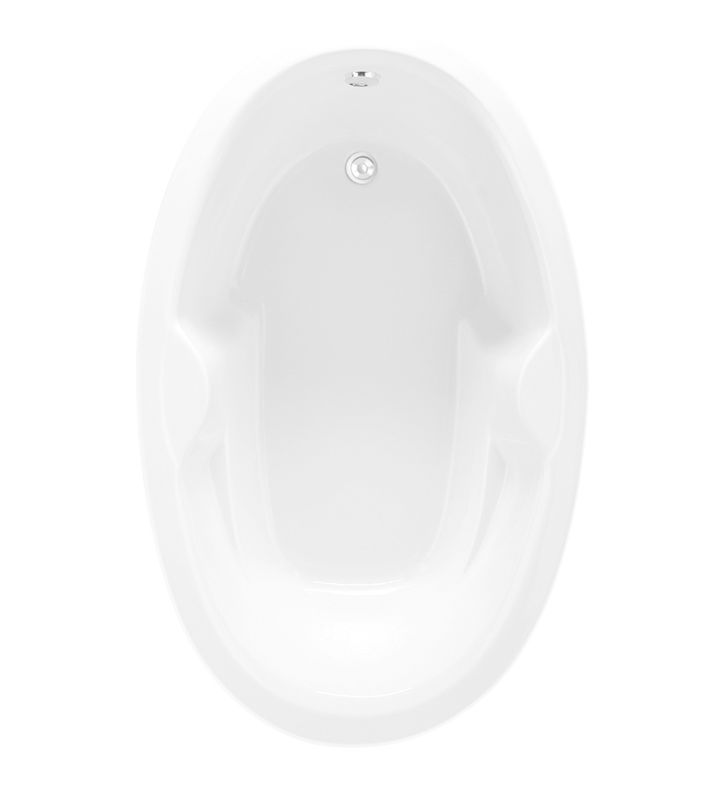 Aquatic AI15AIR6038HS-WH Estate Serenity Oval HotSoak Bathtub With Finish: White