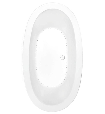 Aquatic AI20AIR7240-WH Estate Serenity Two-Person Oval Air Bathtub With Tub Color: White