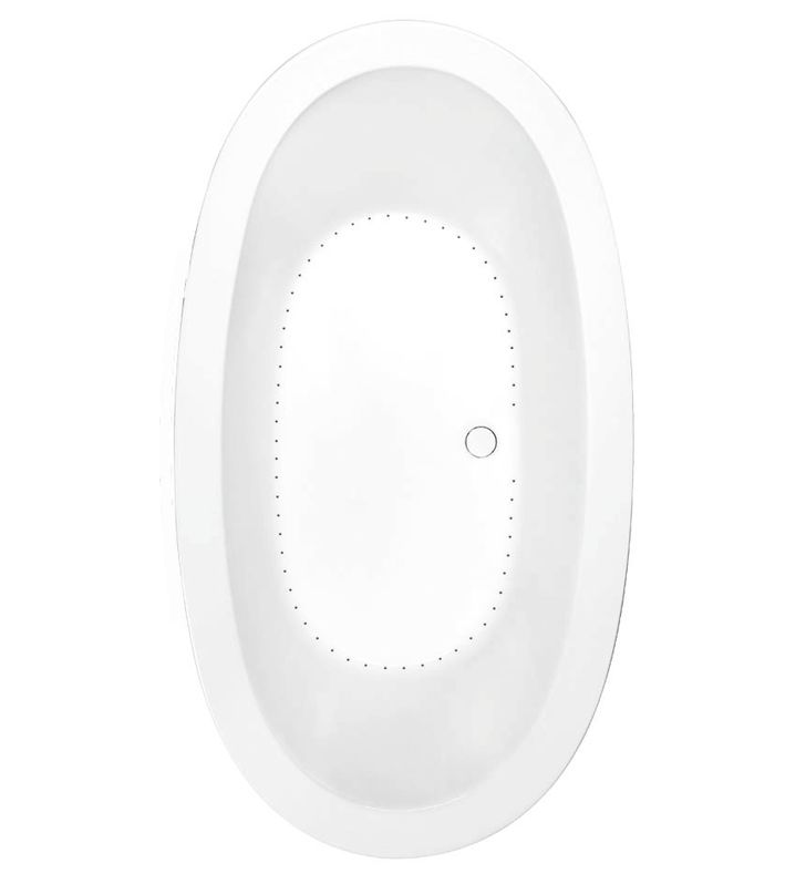 Aquatic AI20AIR7240DB-BI Estate Serenity Two-Person Oval Drift Bathtub With Finish: Biscuit