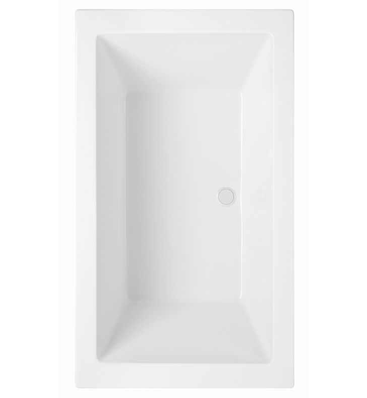 Aquatic AI21AIR7242CHS-WH Estate Serenity Two-Person HotSoak Bathtub With Finish: White