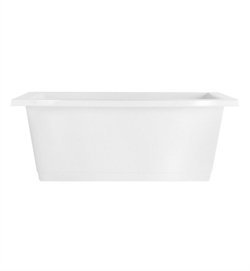 Aquatic AI23AIR7242FTO-WH Estate Serenity Two-Person Freestanding Soaker Bathtub With Tub Color: White