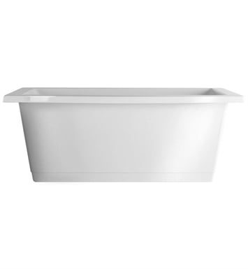Aquatic AI24AIR6636FTO-BI Estate Serenity Freestanding Soaker Bathtub With Tub Color: Biscuit