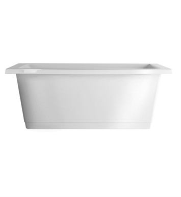 Aquatic AI25AIR7242CF-BI Estate Serenity Two-Person Freestanding Air Bathtub With Tub Color: Biscuit