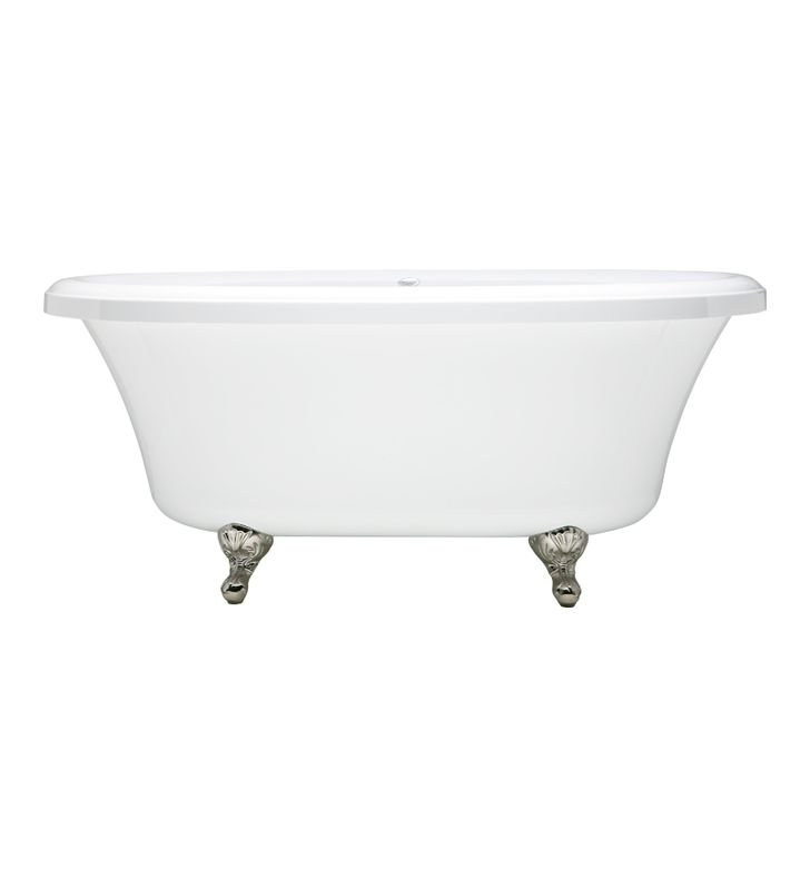 Aquatic AI37AIR6638TO-WH Estate Serenity Two-Person Freestanding Oval Soaker Bathtub With Tub Color: White