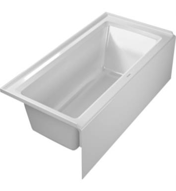 "Duravit 700356000000091 Architec 60"" Rectangular Alcove Acrylic Soaking Bathtub with Left Drain in White"