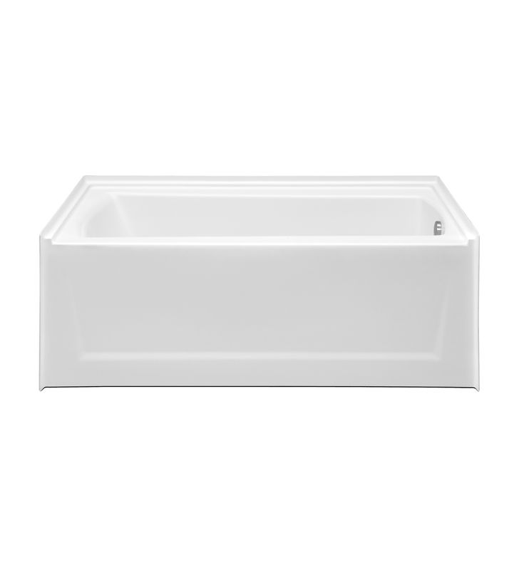 Aquatic AI48AIR6030HSR-BI Estate Serenity HotSoak Bathtub with Extended Skirt With Tub Color: Biscuit And Drain Position: Right Side