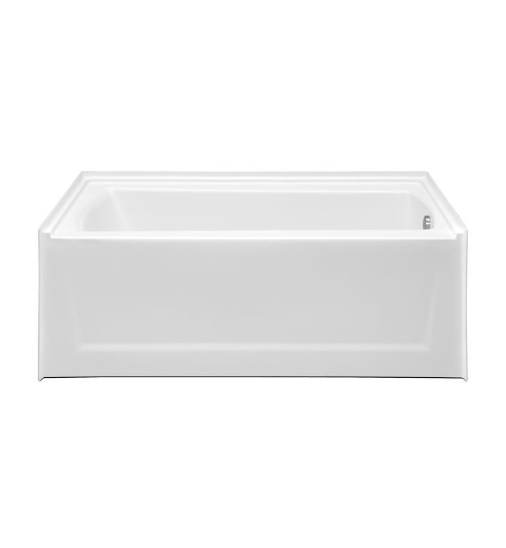 Aquatic AI48AIR6030TOR-WH Estate Serenity Soaker Bathtub with Extended Skirt With Finish: White And Drain Position: Right Side